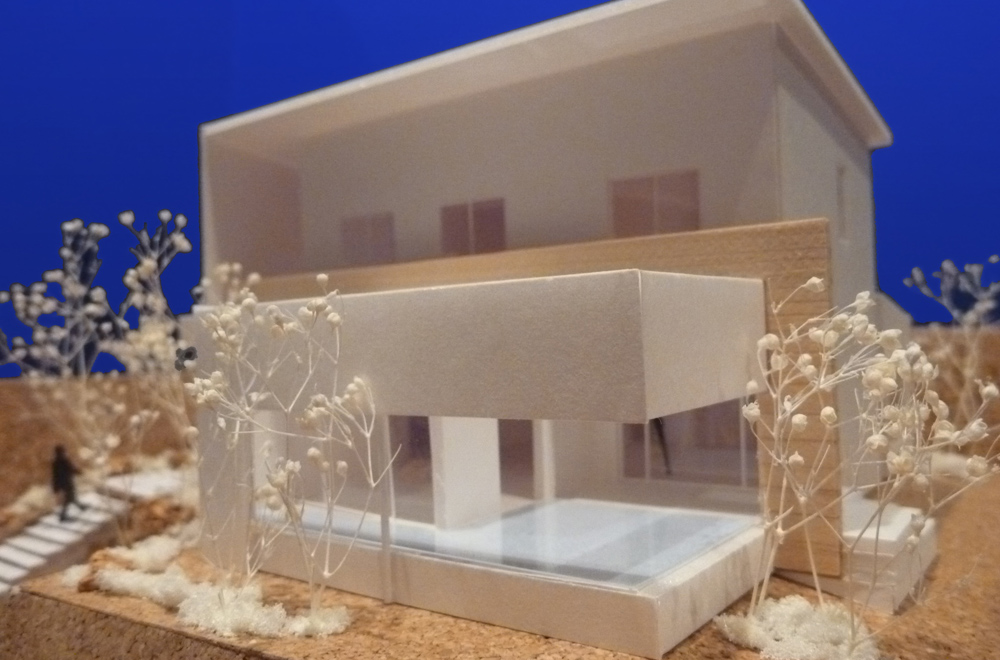 WEST VIEW: Construction modeling