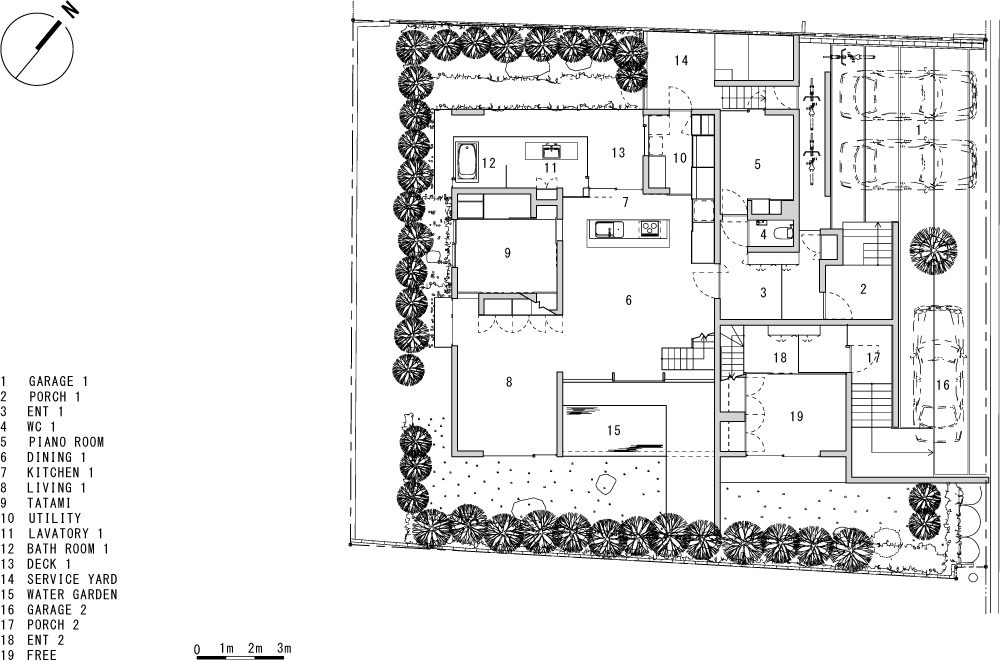 VILLA WHITE CUBE: Structural drawing