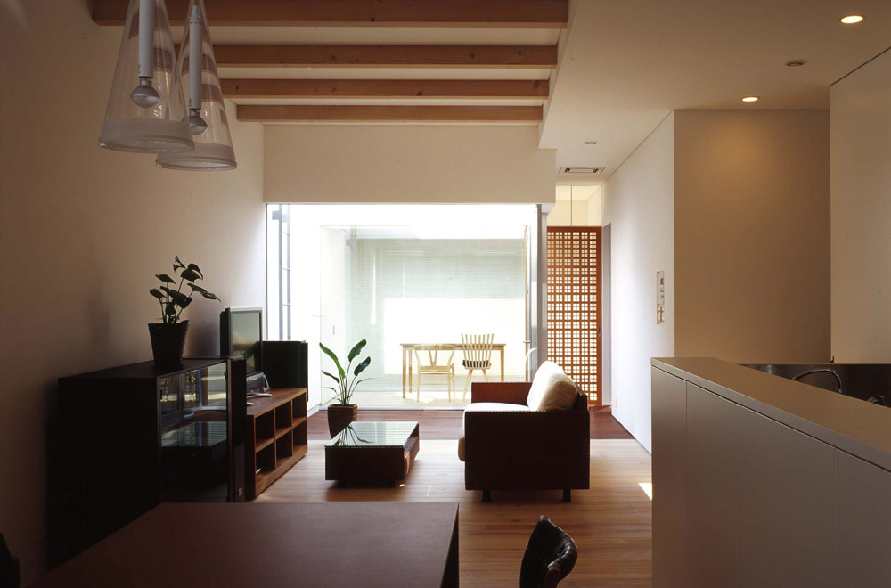HOUSE WITH ROOF GARDEN: Living room