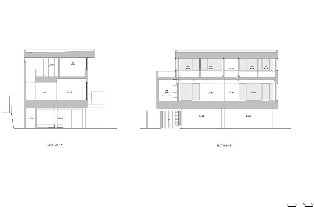 HOUSE IN TAKATSUKA: Structural drawing