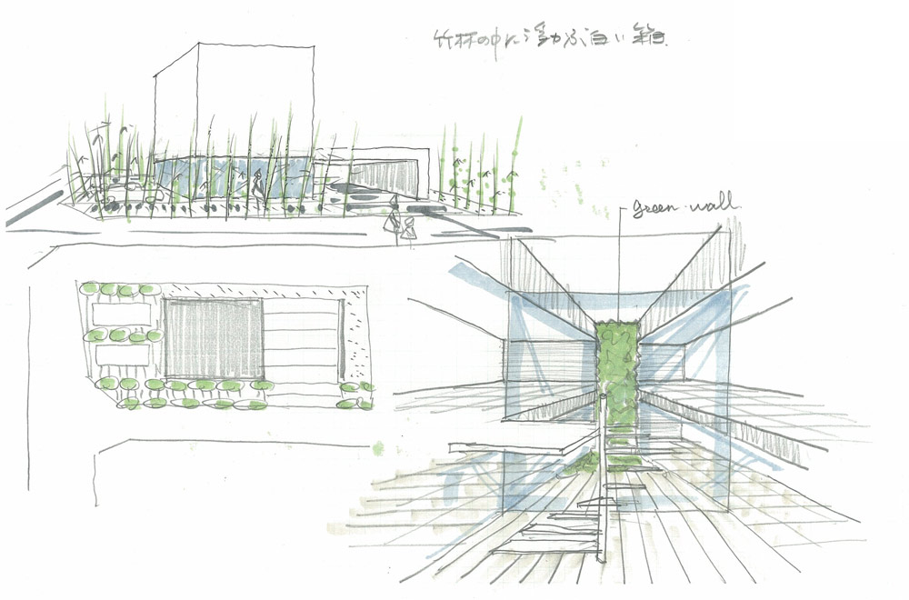 HOUSE OF A GLASS PATIO: Image drawing