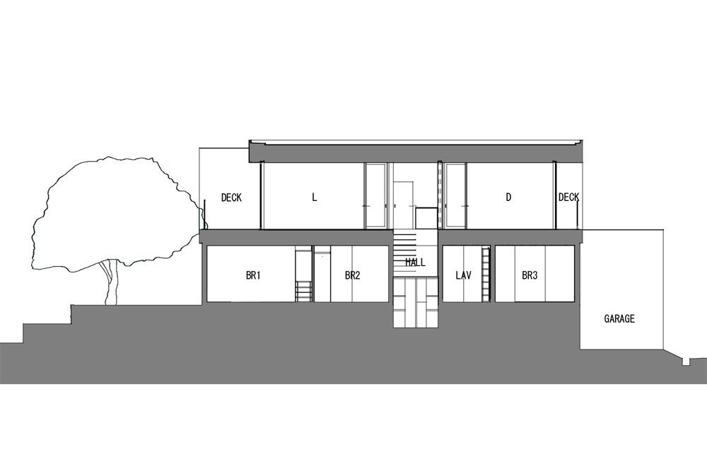 HOUSE WITH MAPLE TREE: Structural drawing