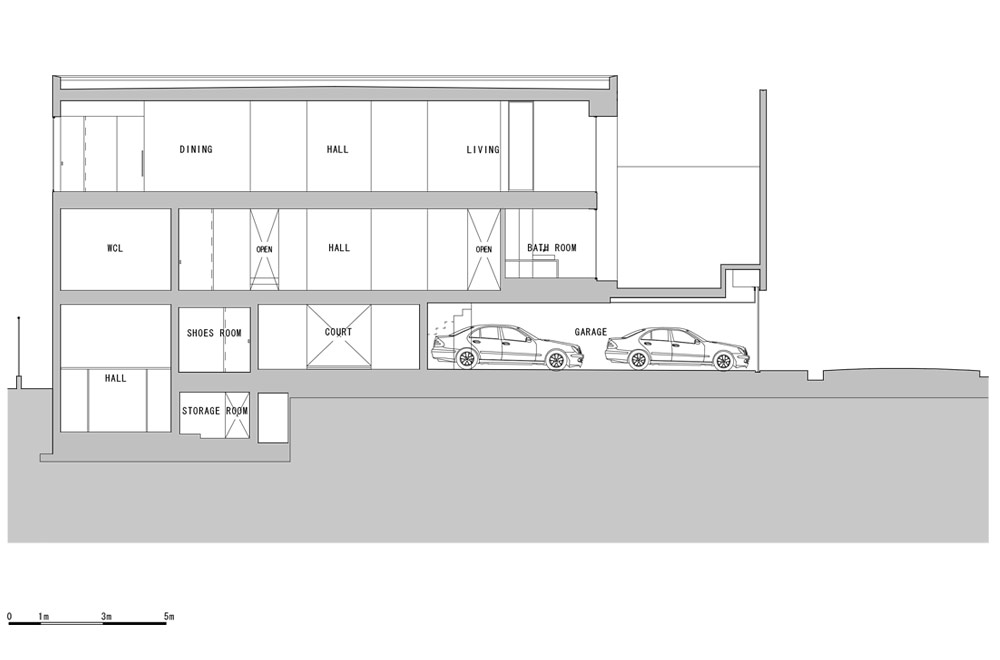 HOUSE IN MUKOYAMA: Structural drawing