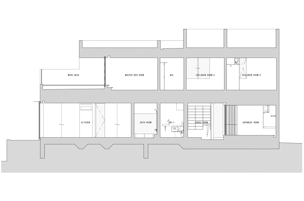 ESPACE HOUSE: Structural drawing