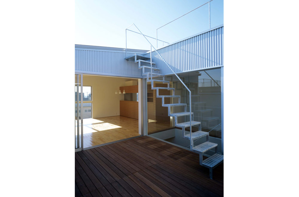 HOUSE WITH THE PEDESTRIAN DECK: Roof