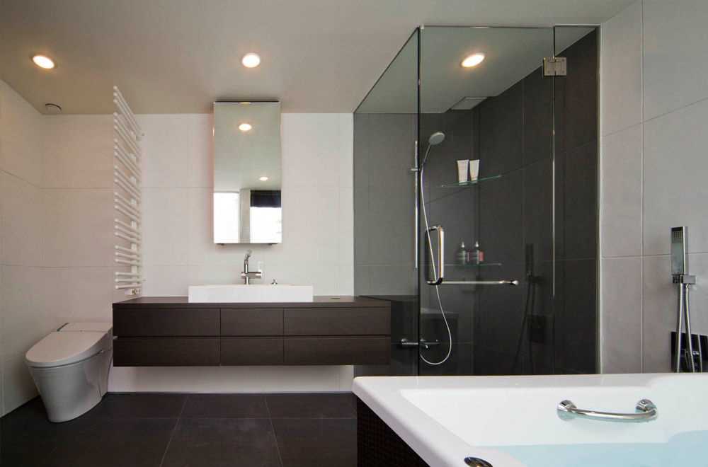 GLASS BRIDGE: Shower room