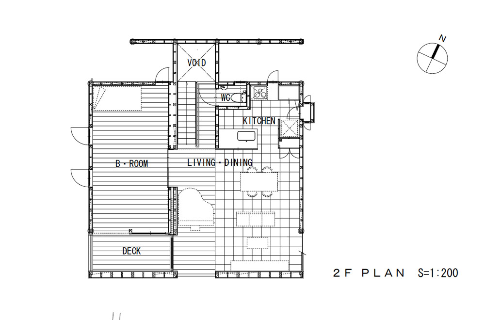FLOATING FLOOR HOUSE: Structural drawing