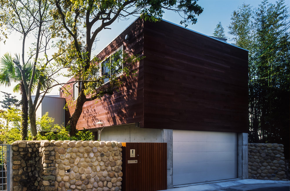 HOUSE WITH THE PEDESTRIAN DECK: Appearance