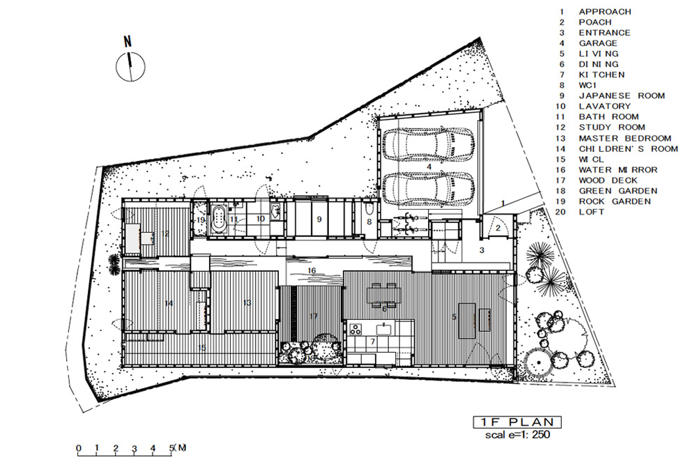 A HOUSE WITH A LITTLE STREAM: Structural drawing