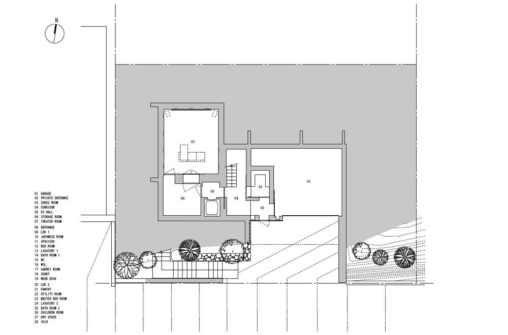 KANCHIKUSOU: Structural drawing