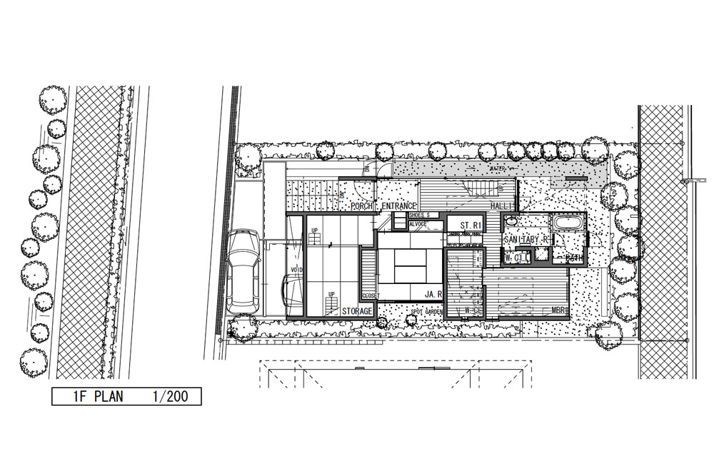 HOUSE WITH ROOF GARDEN: Structural drawing