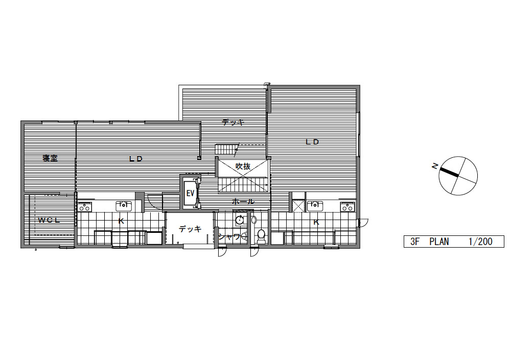 HOUSE WITH THE PEDESTRIAN DECK: Structural drawing